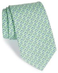 Mint Print Silk Tie