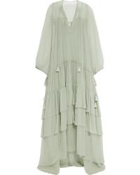 Mint Silk Maxi Dress