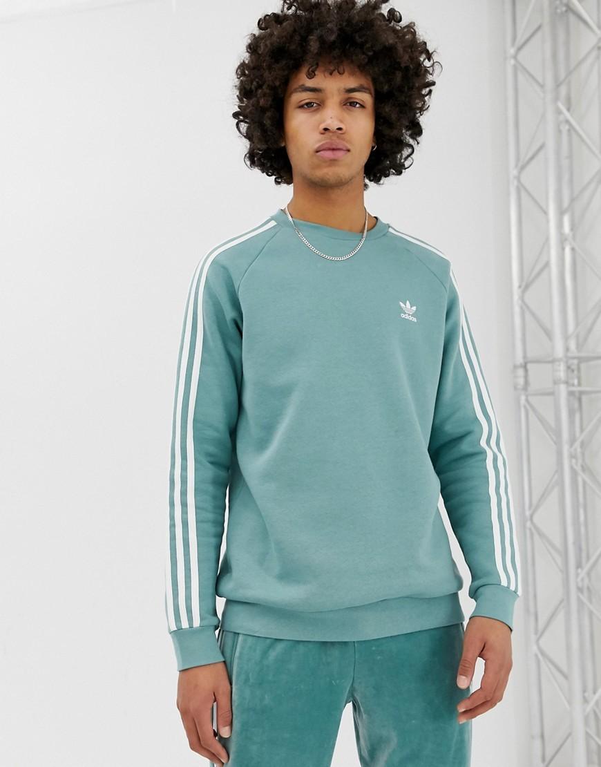 3 Stripe Sweatshirt In Green