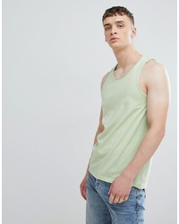 Solid Racer Vest With Raw Edge