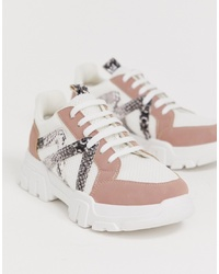 ASOS DESIGN Drone Chunky Trainers In Multi