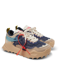 Off-White Odsy 1000 Suede Mesh And Rubber Sneakers
