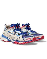 Balenciaga Track 2 Nylon Mesh And Rubber Sneakers