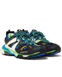 Balenciaga Track Nylon Mesh And Rubber Sneakers