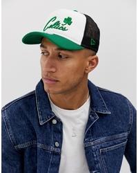 New Era Boston Celtics Trucker Cap In White