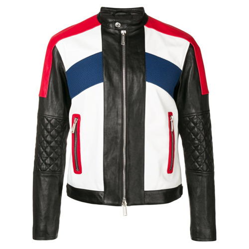 3d46acdfdcf ... colored Bomber Jackets DSQUARED2 Panelled Biker Jacket ...