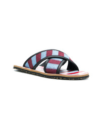 Multi colored Canvas Sandals