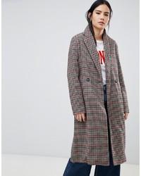 Multi colored Check Coat