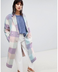 ASOS DESIGN Oversized Check Coat