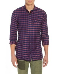 Multi colored Check Flannel Long Sleeve Shirt