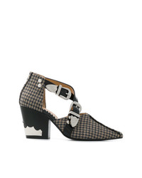 Toga Pulla Checked Cut Out Boots