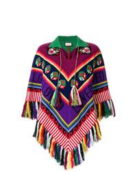 Gucci Tasseled Chunky Knit Poncho