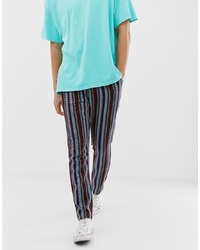 ASOS DESIGN Tapered Trousers In Abstract Design
