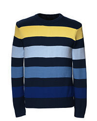 Multi colored Crew-neck Sweater