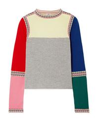 Rosie Assoulin Color Block Wool Sweater
