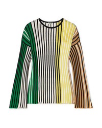 Kenzo Striped Ribbed Knit Sweater