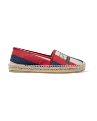 Gucci Pilar Med Striped Canvas Espadrilles