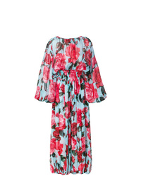 Dolce & Gabbana Rose Print Balloon Leg Jumpsuit