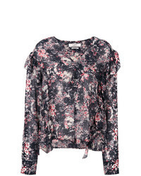Multi colored Floral Long Sleeve Blouse