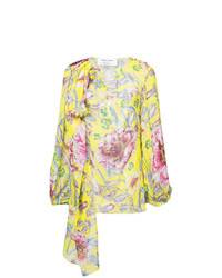 Prabal Gurung Floral Long Sleeve Blouse