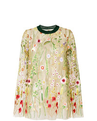 MARQUES ALMEIDA Marquesalmeida Embroidered Floral Blouse