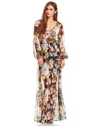 Multi colored Floral Maxi Dress