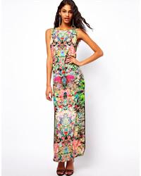 Asos Maxi Dress In Dark Based Floral