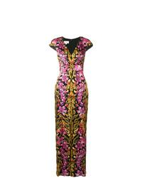 Temperley London Safari Printed Tie Dress