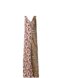 Alberto Biani Split Print Maxi Dress