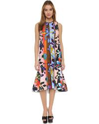 Multi colored Floral Midi Dress