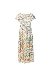 RED Valentino Floral Print Midi Dress