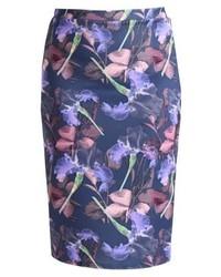 LOST INK In Shadow Pencil Skirt Multi