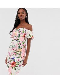 Paper Dolls Tall Midi Pencil Dress In Floral Print
