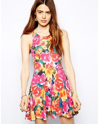 Multi colored Floral Skater Dress