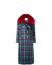Giada Benincasa Checked Long Coat