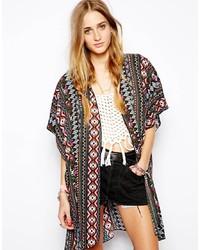 Multi colored Geometric Kimono