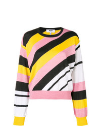 MSGM Diagonal Stripe Sweater