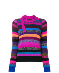 Marc Jacobs Striped Tie Neck Cashmere Sweater