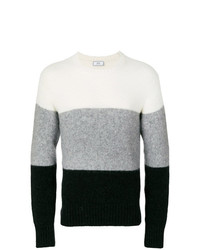 AMI Alexandre Mattiussi Wide Stripes Crewneck Sweater