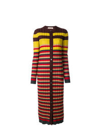 Multi colored Horizontal Striped Long Cardigan