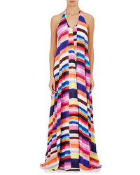Multi colored Horizontal Striped Maxi Dress