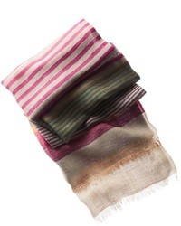 Multi colored Horizontal Striped Scarf