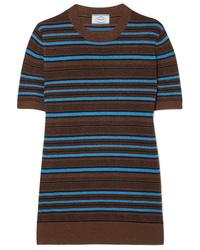 Prada Striped Metallic Wool Blend Sweater