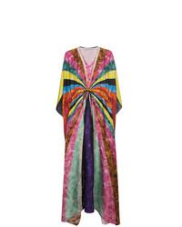 Mary Katrantzou Silk Sequinned Striped Kaftan