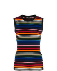 Dolce & Gabbana Rainbow Stripe Top