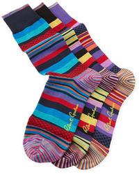 Multi colored Horizontal Striped Socks
