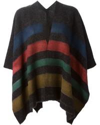 Ermanno gallamini striped poncho medium 343265