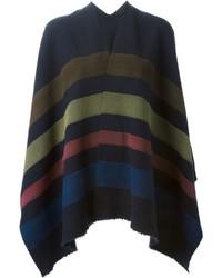 Ermanno gallamini striped poncho medium 343266