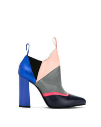 Studio Chofakian Color Blocked Ankle Boots