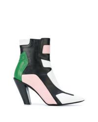 A.F.Vandevorst Contrast Panel Ankle Boots